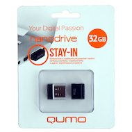 Флеш-диск USB 2.0 QUMO 32GB Nano Black