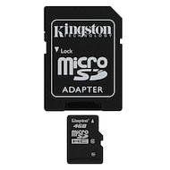 Карта памяти Kingston microSDHC 4Gb Class 4 + адаптер (SDC4/4GB) в Уфе