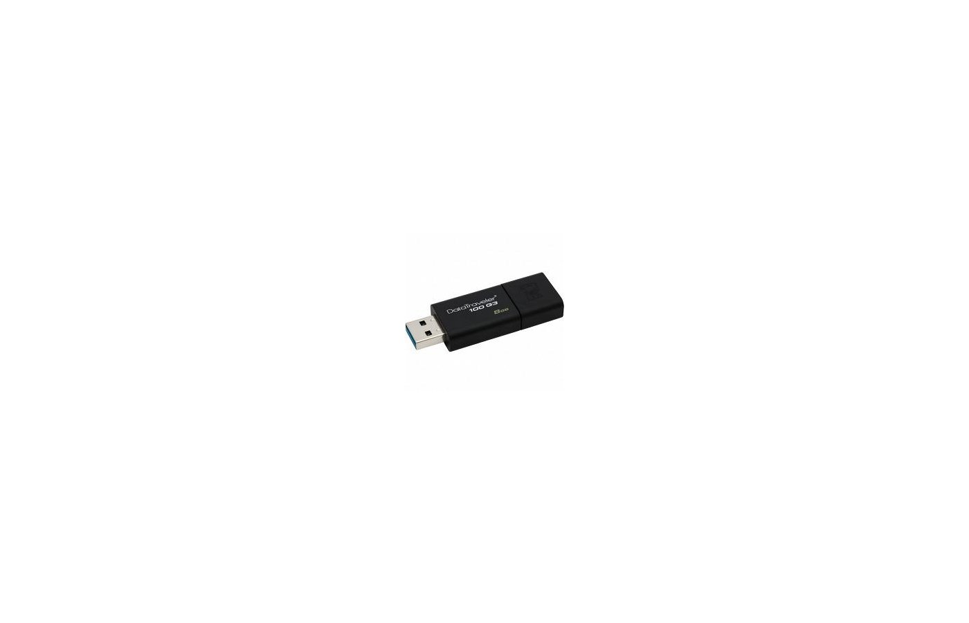 Флеш-диск Kingston 8Gb DataTraveler 100 G3 DT100G3/8GB USB3.0 черный