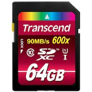 Карта памяти Transcend sdxc 64gb class 10 uhs-i 600x ultimate (ts64gsdxc10u1)
