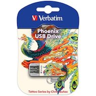 Фото Флеш-диск Verbatim 16Gb Store n Go Mini TATTOO EDITION PHOENIX 49887 USB2.0 белый/узор