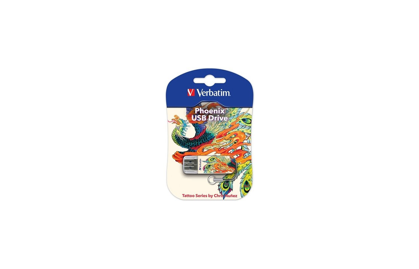 Флеш-диск Verbatim 16Gb Store n Go Mini TATTOO EDITION PHOENIX 49887 USB2.0 белый/узор