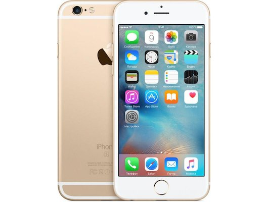 Смартфон Apple iPhone 6S 128G Gold MKQV2RU/A