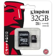 Карта памяти Kingston microSDHC 32Gb Class 10 + адаптер (SDC10G2/32GB) в Уфе
