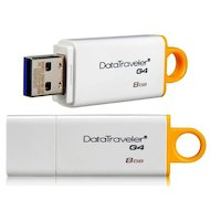 Фото Флеш-диск USB 3.0 Kingston 8Gb DataTraveler G4 (DTIG4/8GB) белый