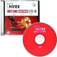 CD-диск CD-R Mirex HOTLINE 700 Мб 48x Slim case (UL120050A8S)