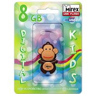 Фото Флеш-диск USB 2.0 Mirex MONKEY 8GB BROWN (13600-KIDMKB08)