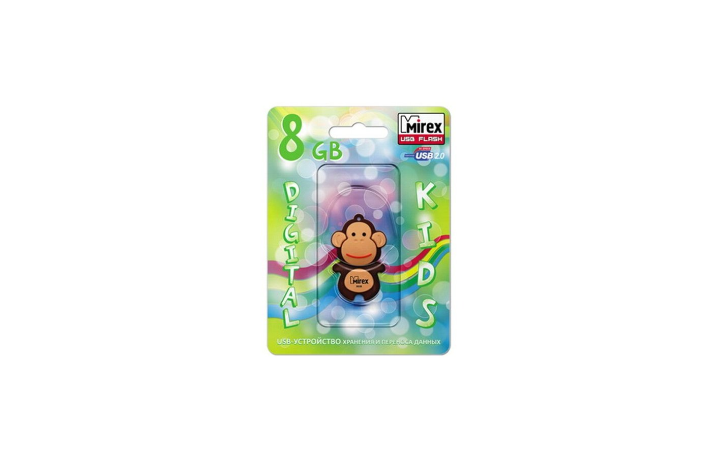 Флеш-диск USB 2.0 Mirex MONKEY 8GB BROWN (13600-KIDMKB08)