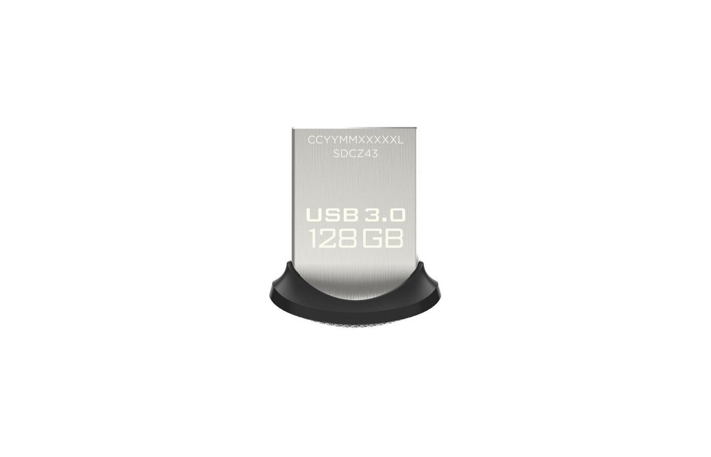 Флеш-диск USB3.0 Sandisk 128Gb Ultra Fit SDCZ43-128G-GAM46 черный