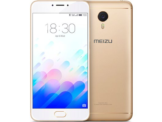 Смартфон Meizu M3 Note 16Gb gold white