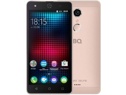Смартфон BQ BQS-5050 Strike Selfie Rose Gold
