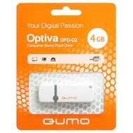 Флеш-диск USB 2.0 QUMO 4GB Optiva 02 White