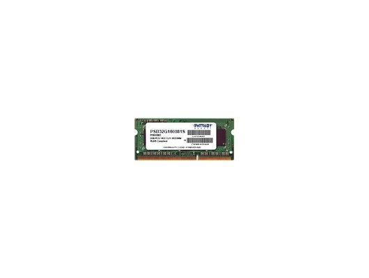 Оперативная память Patriot PSD32G160081S RTL PC3-12800 DDR3 2Gb 1600MHz CL11 SO-DIMM