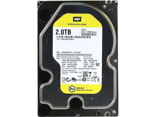 Жесткий диск Western Digital SATA-III 2Tb WD2004FBYZ RE (7200rpm) 128Mb 3.5