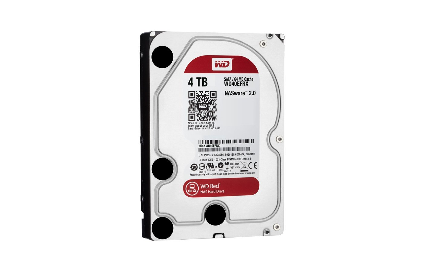 Жесткий диск WD Original SATA-III 4Tb WD40EFRX Red 64Mb 3.5""