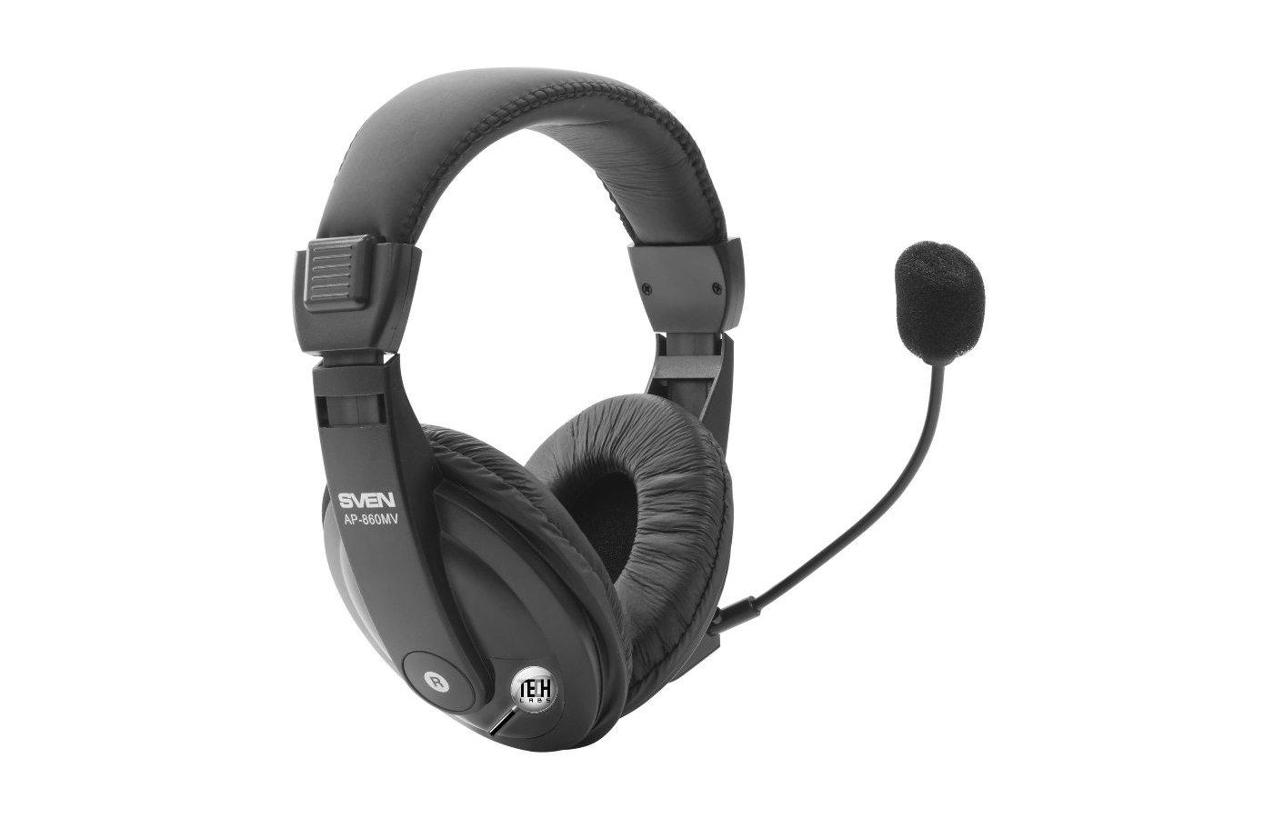 Наушники с микрофоном проводные SVEN AP-860MV - купить наушники с ... 2c1083e1bea12