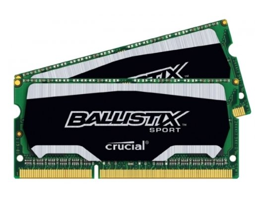 Оперативная память Crucial BLS2C4G3N169ES4CEU RTL PC3-12800 DDR3L 2x4Gb 1600MHz CL9 SO-DIMM