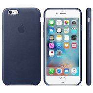 Чехол Apple iPhone 6/6S Leather Case Midnight Blue (MKXU2ZM/A)