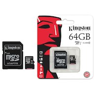 Карта памяти Kingston microSDXC 64Gb Class 10 + адаптер UHS-I (SDC10G2/64GB)