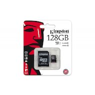 Карта памяти Kingston microSDXC 128Gb Class 10 + адаптер UHS-I (SDC10G2/128GB)