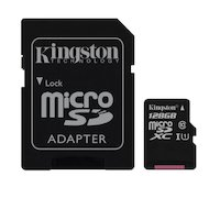 Карта памяти Kingston microSDXC 128Gb Class 10 + адаптер UHS-I (SDC10G2/128GB) в Уфе