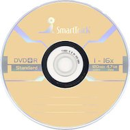 DVD-диск Диск DVD+R SMART TRACK 4.7Gb 16x Slim (за 1 диск)